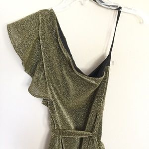 NBD Dresses - NBD x Revolve Addison Gold Metallic Mini Dress XS
